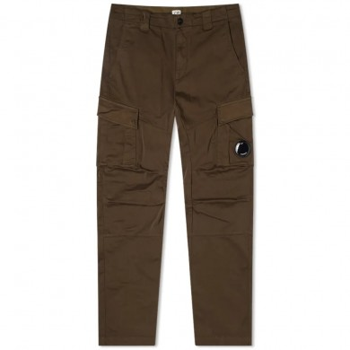 C.P. Company Lens Pocket Sateen Cargo Pants Ivy Green