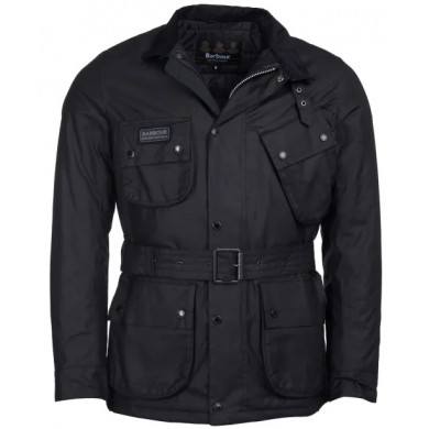 Barbour International Coloured SL International Wax Jacket Black