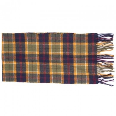 Barbour Tartan Lambswool Scarf Green, Navy & Red