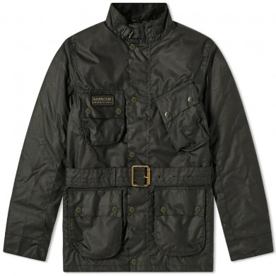 Barbour International Coloured SL International Wax Jacket Sage