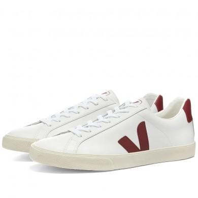 Veja Esplar Clean Leather Sneaker White & Marsala