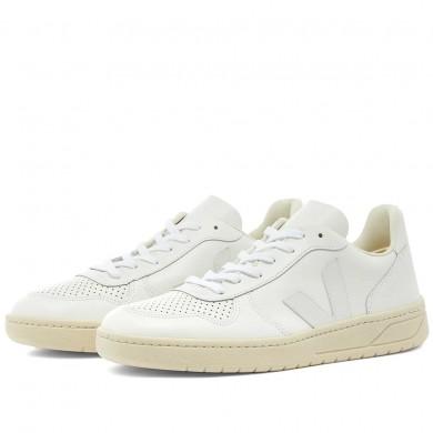 Veja V-10 Leather Basketball Sneaker Extra White