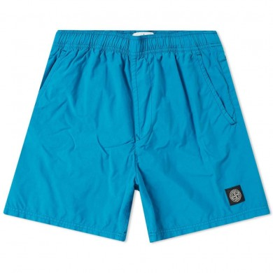 Stone Island B0946 Brushed Cotton Swimming Shorts Bright Blue