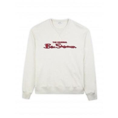 Ben Sherman Logo Sweatshirt Ecru