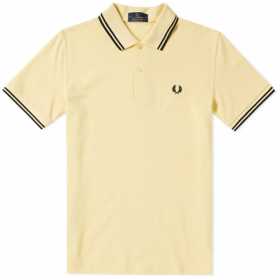 Fred Perry Reissues Original Twin Tipped Polo Yellow & Black