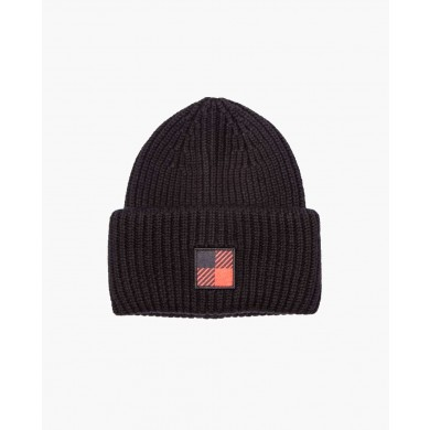 Woolrich Winter Logo Beanie Hat Black