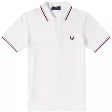 Fred Perry Reissues Original Twin Tipped Polo White, Ice & Maroon