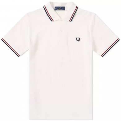 Fred Perry Reissues Original Twin Tipped Polo Snow, Navy & Maroon
