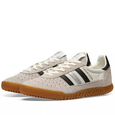 Adidas Indoor Super White, Black & Matte Silver
