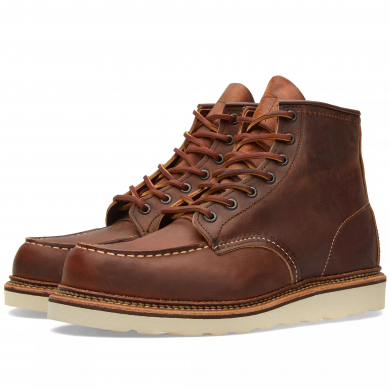 """Red Wing 1907 Heritage Work 6"""" Moc Toe Boot Copper Rough & Tough"""