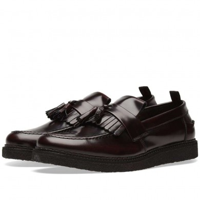 Fred Perry x George Cox Tassel Loafer Oxblood