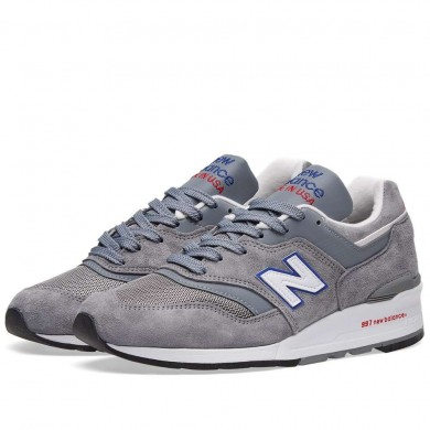 New Balance M997CNR - Made in the USA Grey, Blue & Red