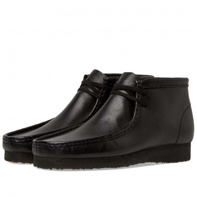 Clarks Originals Wallabee Boot Black Leather