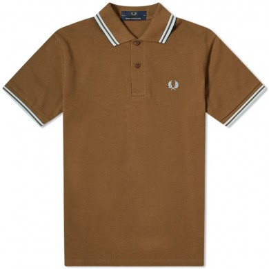 Fred Perry Reissues Original Twin Tipped Polo Chocolate & Sky