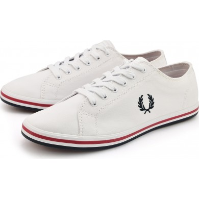 Fred Perry Kingston Twill White, Navy & Red