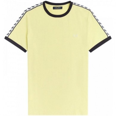 Fred Perry Authentic Taped Ringer Tee Lemon