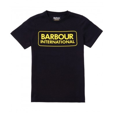 Barbour International Graphic Tee Black & Yellow