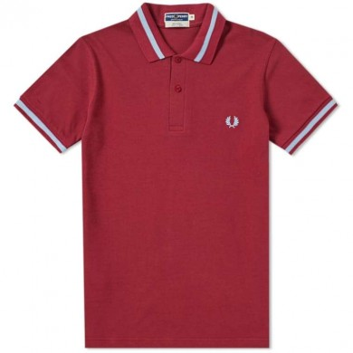 Fred Perry Reissues Original Single Tipped Polo Maroon & Ice