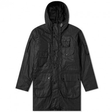 Barbour x Engineered Garments Zip Parka Black