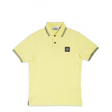 Stone Island 22S18 Patch Program Polo Shirt Lemon