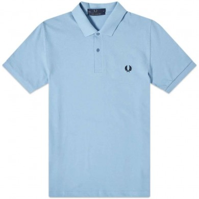 Fred Perry Reissues Original Plain Polo Sky & Navy