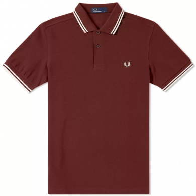 Fred Perry Slim Fit Twin Tipped Polo Stadium Red