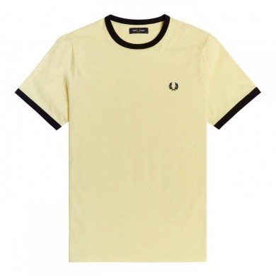 Fred Perry Ringer Tee Lemon