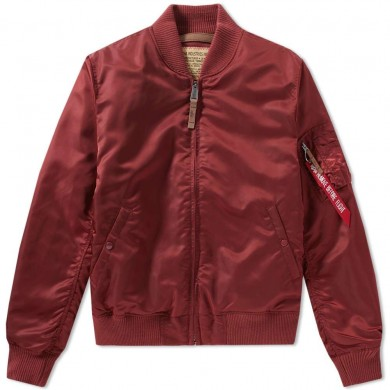 Alpha Industries MA-1 VF 59 Flight Jacket Burgundy