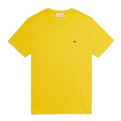 Lacoste Crew Neck Prima Cotton Jersey Tee Yellow