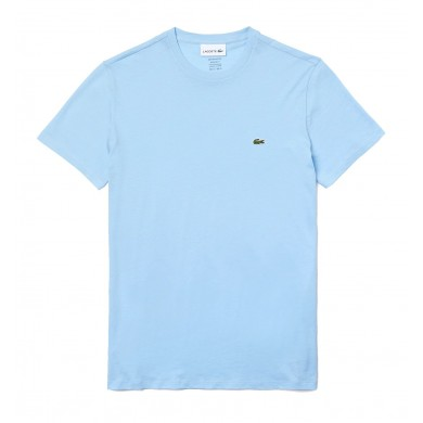 Lacoste Crew Neck Prima Cotton Jersey Tee Blue Sky