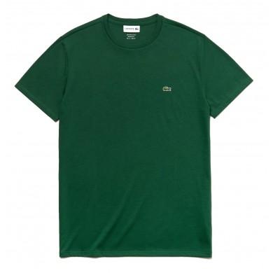 Lacoste Crew Neck Prima Cotton Jersey Tee Green