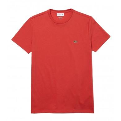 Lacoste Crew Neck Prima Cotton Jersey Tee Light Red