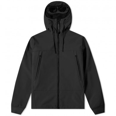 C.P. Company Soft Shell Hooded Jacket Black