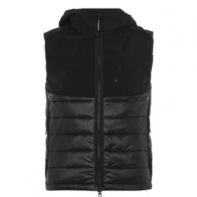 C.P. Company Shell Mixed Padded Goggle Vest Black