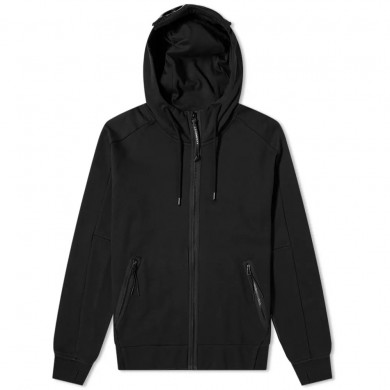 C.P. Company Zip Through Goggle Hoody Black