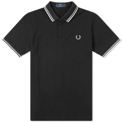 Fred Perry Made in Japan Polo Black & White
