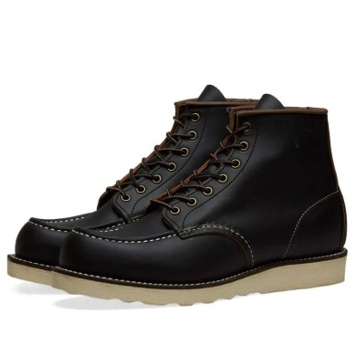 "Red Wing 8849 Heritage Work 6"" Moc Toe Boot Black Prairie"