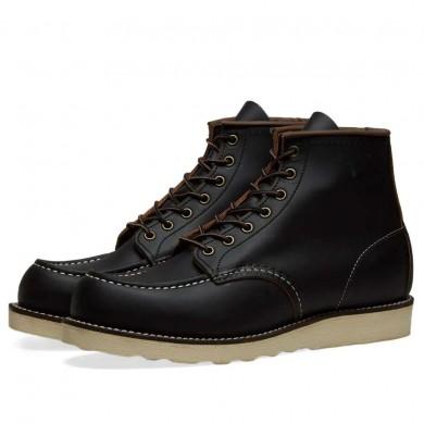 """Red Wing 8849 Heritage Work 6"""" Moc Toe Boot Black Prairie"""
