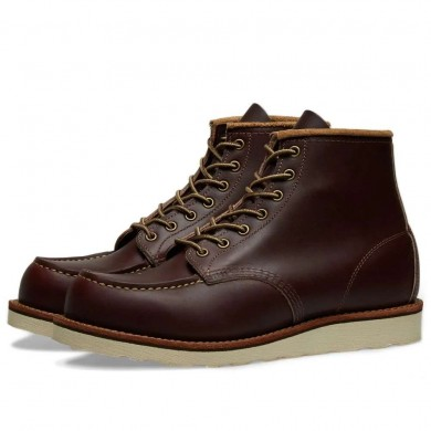 "Red Wing 8856 Heritage Work 6"" Moc Toe Boot Oxblood Mesa"