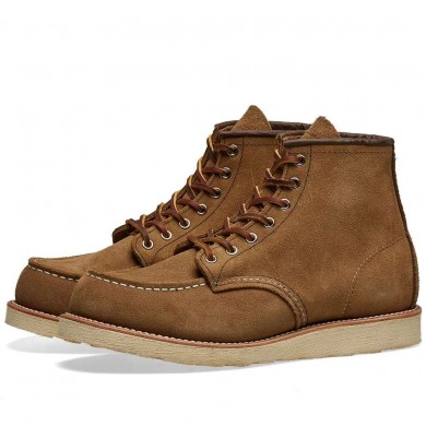 """Red Wing 8881 Heritage Work 6"""" Moc Toe Boot Olive Mohave"""