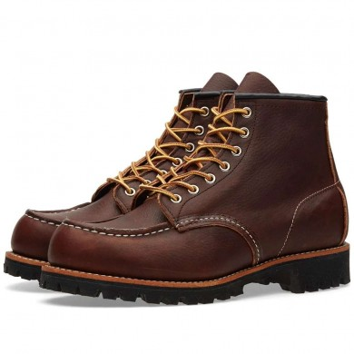 "Red Wing 8146 Heritage Work 6"" Moc Toe Boot Briar Oil Slick"