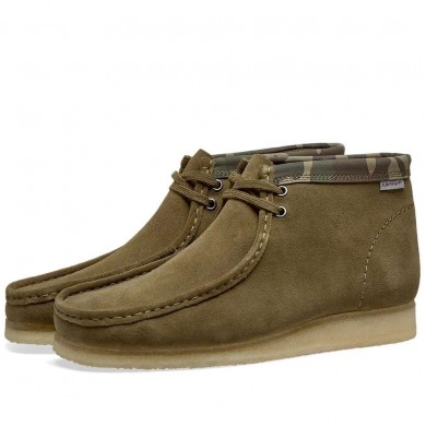 Clarks Originals x Carhartt Wallabee Boot Olive Green Camo