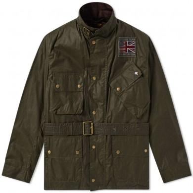 Barbour International Steve McQueen Joshua Wax Jacket Archive Olive