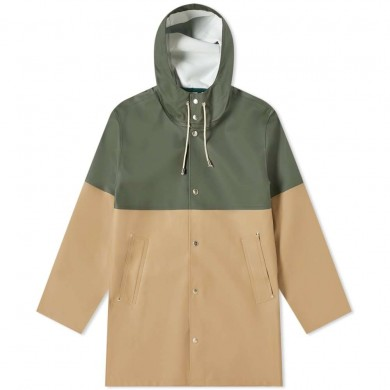Stutterheim Stockholm Blocked Raincoat Green