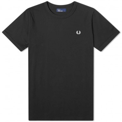 Fred Perry Ringer Tee Black