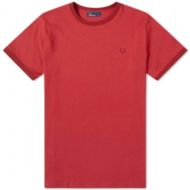 Fred Perry Ringer Tee Rich Red