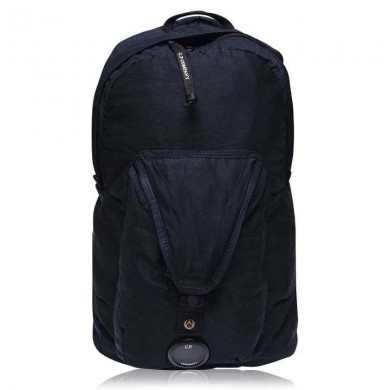 C.P. Company GD Nylon Sateen Lens Backpack Total Eclipse