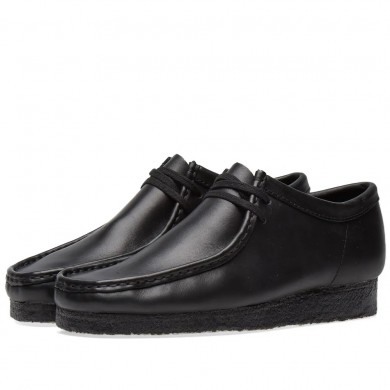 Clarks Originals Wallabee Black Leather