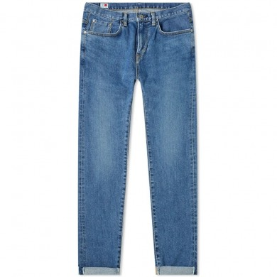 Edwin Slim Tapered Jeans - Made in Japan - Blue Mid Used L30