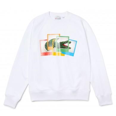 Lacoste x Polaroid Loose Fit Sweatshirt White